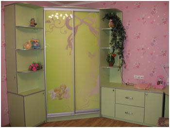 шкаф купе в детскую комнату на заказ изготовление детских шкафов купе