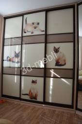 Секционные двери шкафа – фотопечать под стеклом