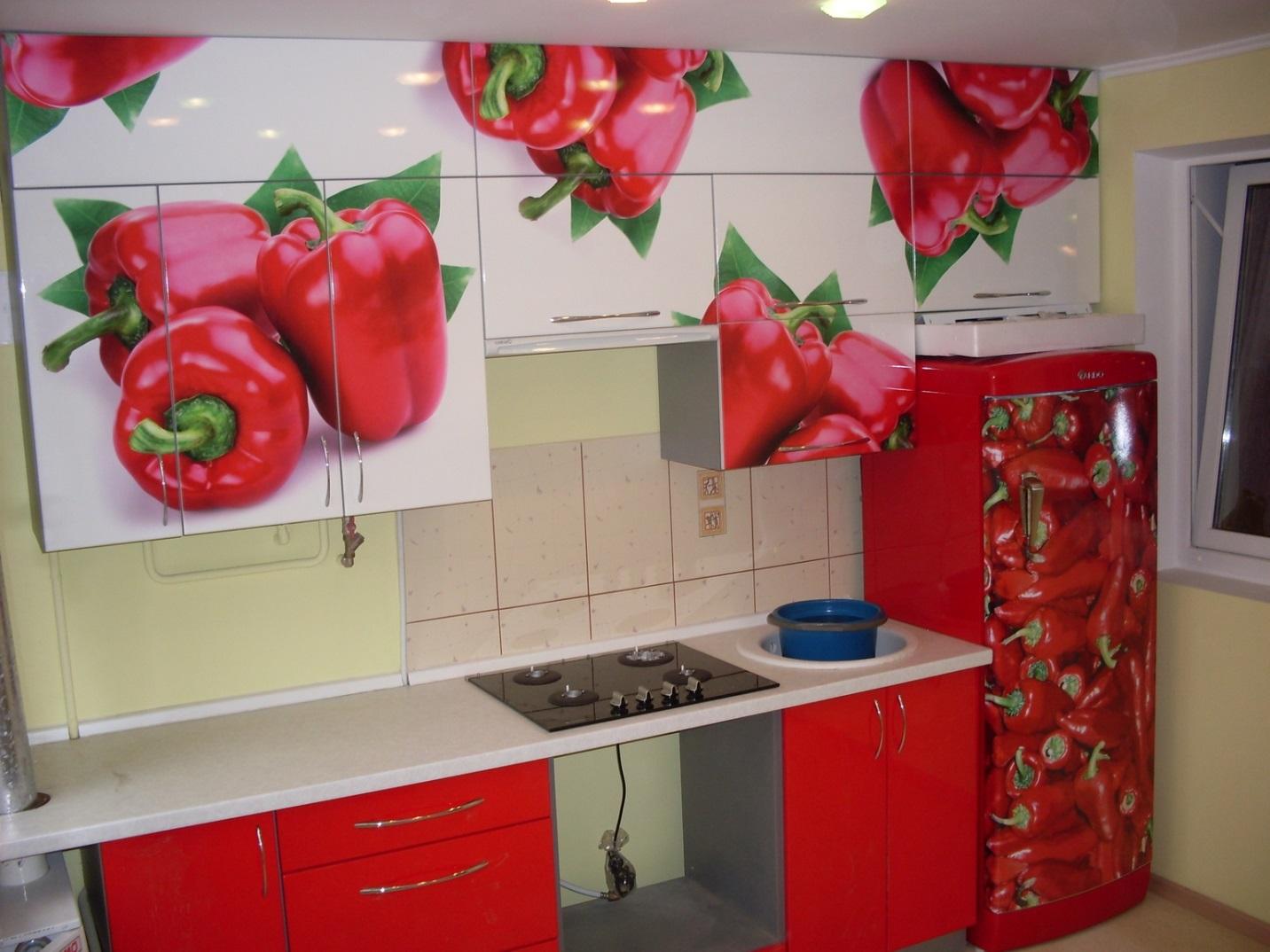 08.Аппетитные яркие овощи – одна из популярных тем кухонного дизайна.