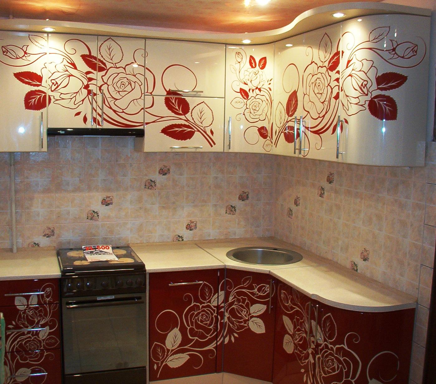 11.Вы также можете выбрать различные векторные рисунки для нанесения на фасады кухни методом фотопечати.