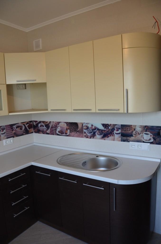 Шпонированные фасады кухни