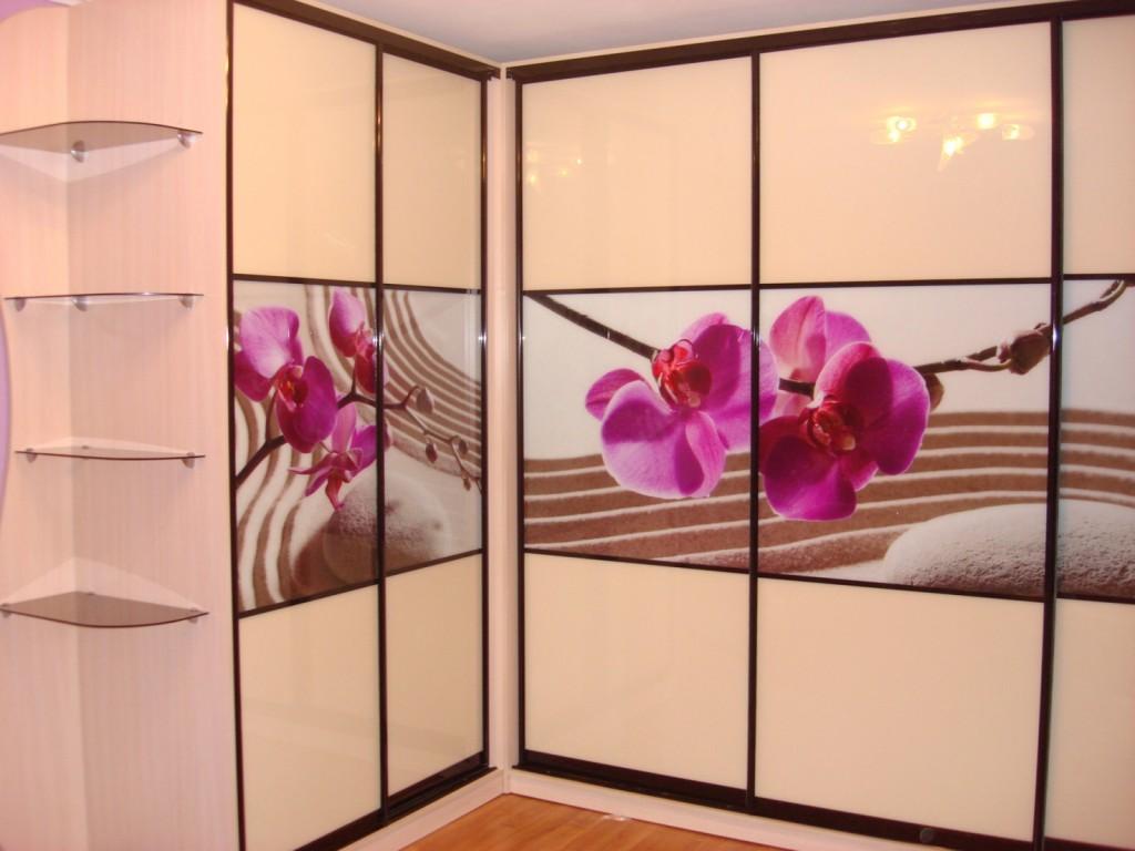 Фотопечать вставками из цветного стекла